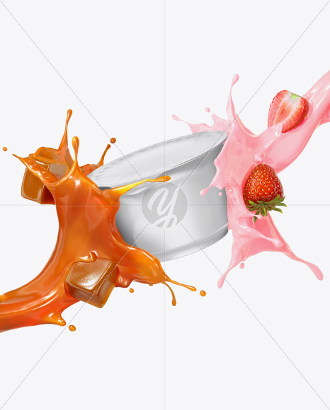 Plastic Cup with Splashes Mockup