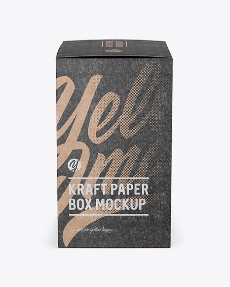 Kraft Paper Box Mockup - Side View