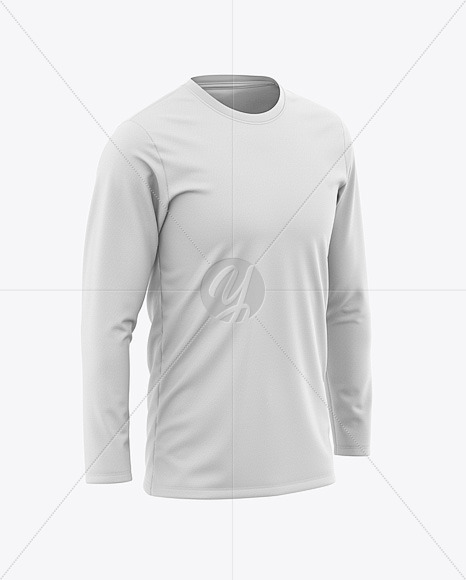 Download Crew Neck Soccer T Shirt Mockup Halfside View Yellowimages