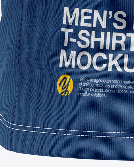 Men's Long Sleeve T-Shirt Mockup - Front Half-Side View