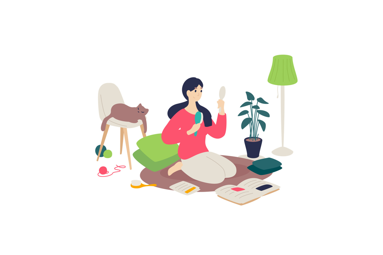 Illustrations on the topic of household chores