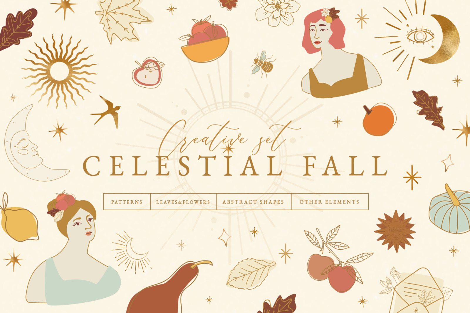 Celestial Fall Graphic Set