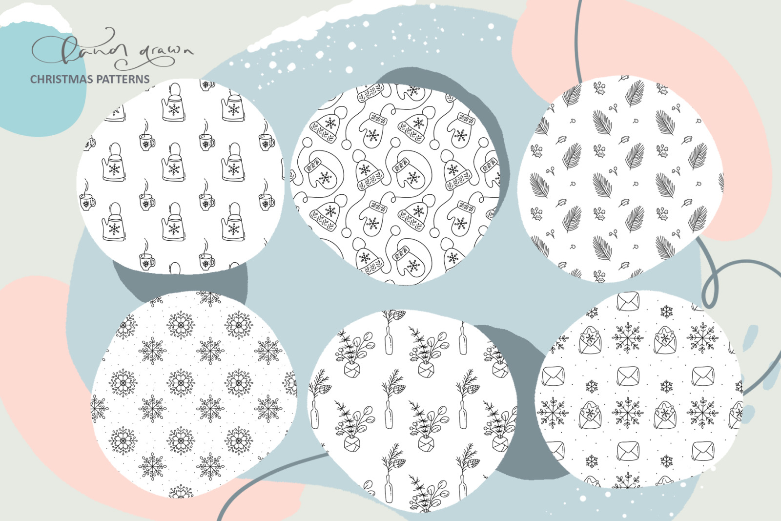 Christmas monoline collection SVG