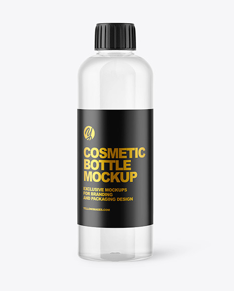 Clear Cosmetic Water Bottle Mockup