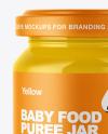 Glossy Baby Food Jar Mockup