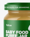 Clear Glass Baby Food Jar Mockup