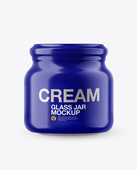 Glass Jar w/h Cashew Cream in Shrink Sleeve Mockup