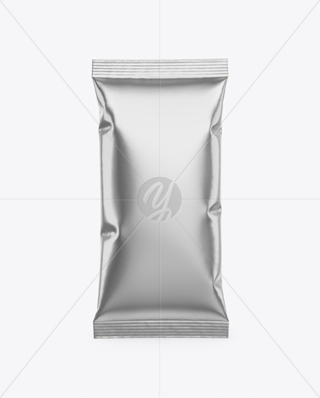 Glossy Metallic Snack Bar Mockup