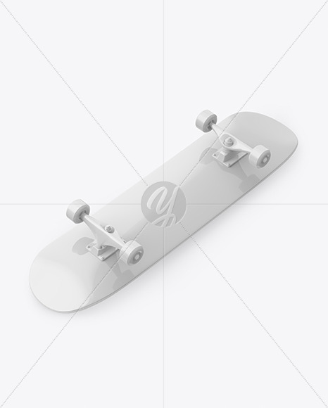 Glossy Skateboard Mockup - Halfside View - Yellowimages Mockups