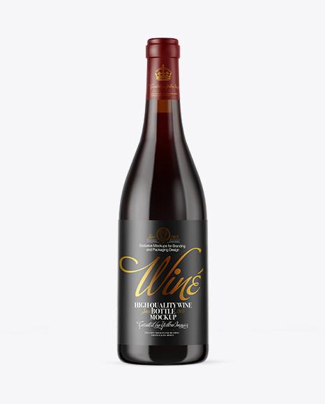 Download Amber Glass Red Wine Bottle PSD Mockup