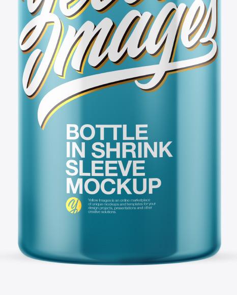 Download Matte Pills Bottle With Shrink Sleeve Mockup PSD - Free PSD Mockup Templates