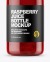 Raspberry Juice Bottle Mockup