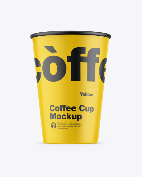 Download Matte Coffee Cup PSD Mockup
