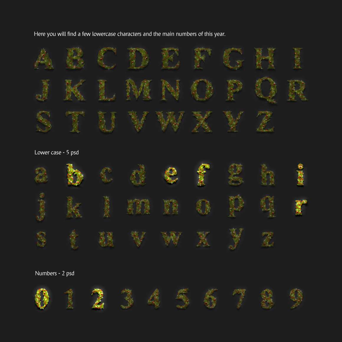2020 Animated Font