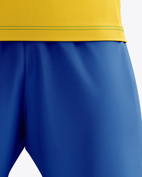 Men's Full Soccer Kit with Open Collar mockup (Front View)