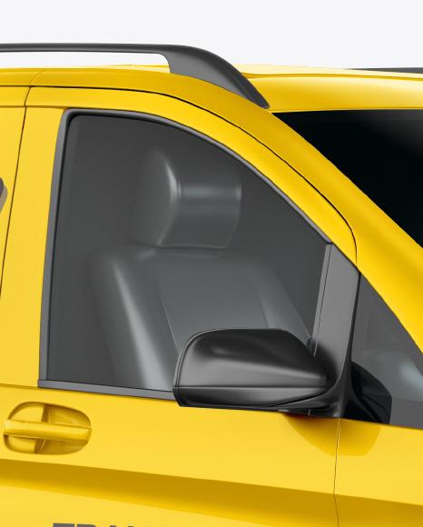 Panel Van Mockup - Half Side View