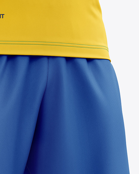 Men's Full Soccer Kit with Open Collar mockup (Hero Shot)