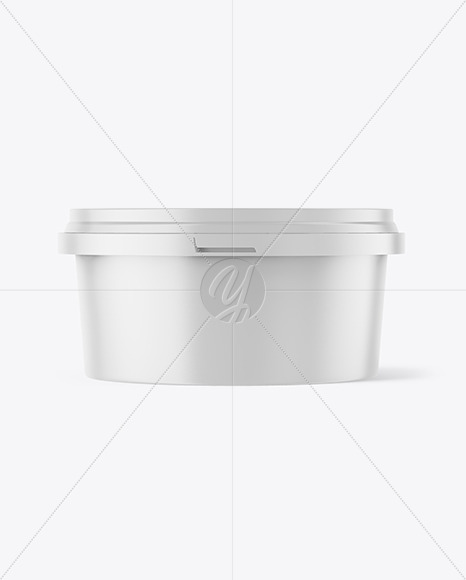 Download Matte Plastic Container Mockup In Pot Tub Mockups On Yellow Images Object Mockups PSD Mockup Templates