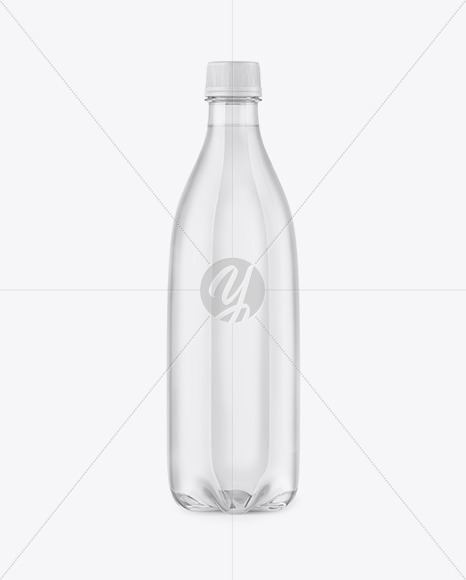 Clear PET Water Bottle Mockup