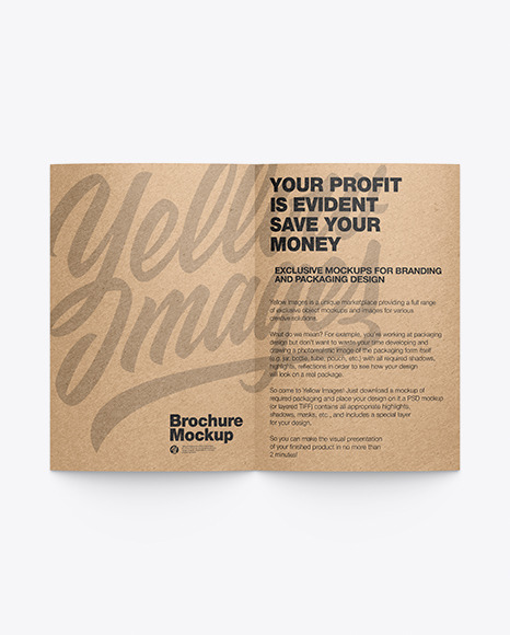 Download Kraft Brochure PSD Mockup