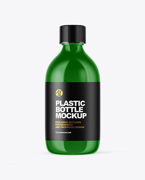 Download Glossy Plastic Oil Bottle PSD Mockup
