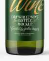 375ml Green Glass Bottle With White Wine Mockup