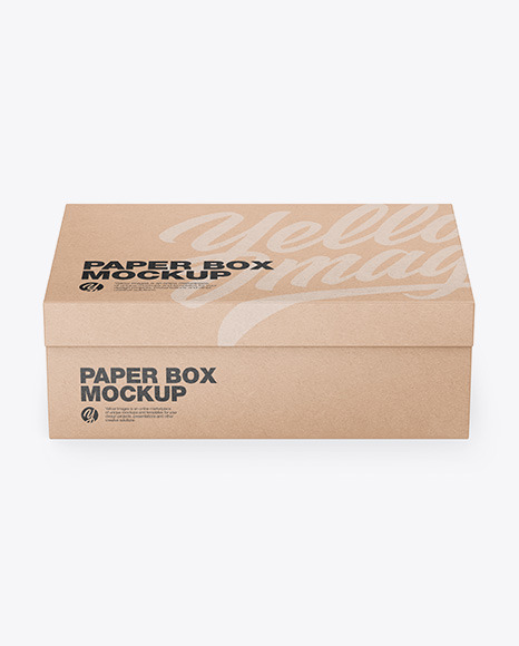 Download Kraft Box Front View PSD Mockup