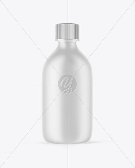 Matte Plastic Oil Bottle Mockup