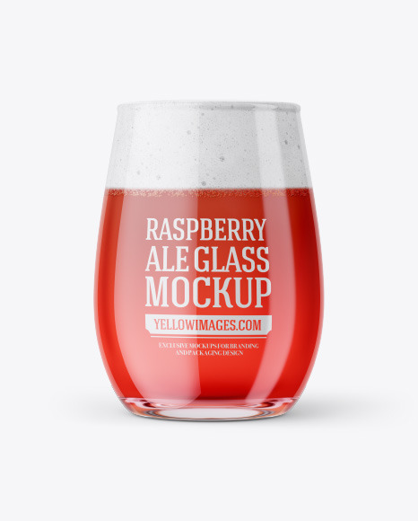 Download Tester Glass With Raspberry Ale PSD Mockup