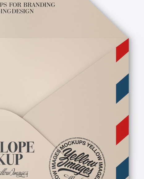 Glossy Envelope Mockup
