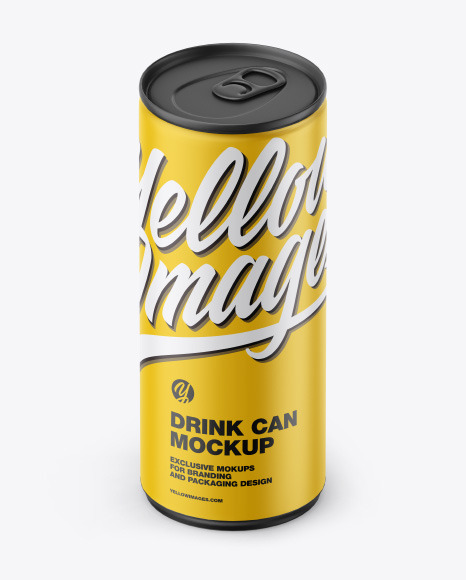 Download Matte Can PSD Mockup