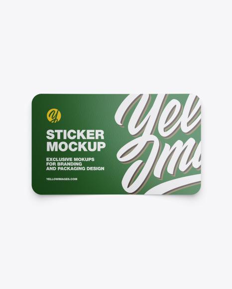 Download Textured Sticker PSD Mockup