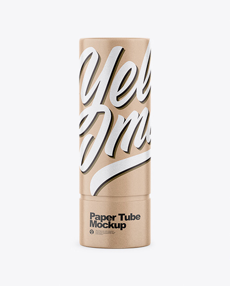 Download Kraft Paper Tube PSD Mockup