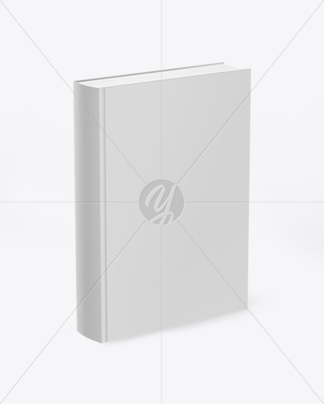 Book w/ Matte Cover Mockup - Half Side View
