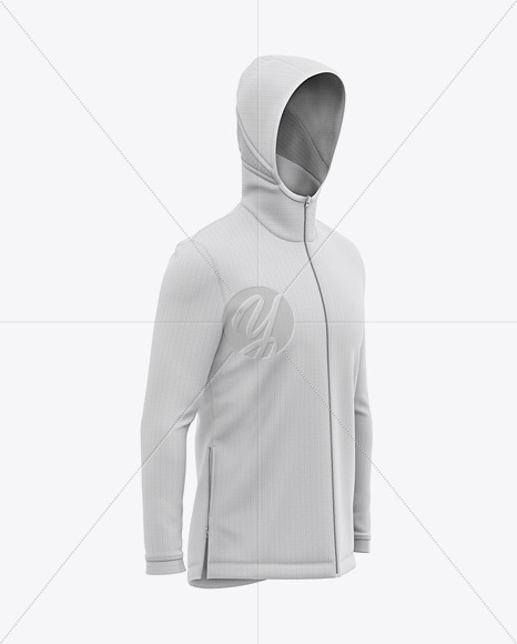Download Hoodie With Zipper Mockup Front View Yellowimages