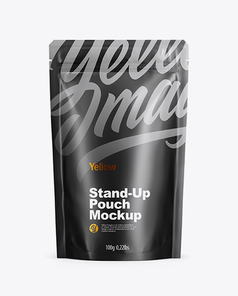 Matte Stand Up Pouch with Zipper Mockup - Front View