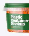 Plastic Container with Carrot Mockup