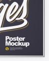 Metallic Frame Poster Mockup