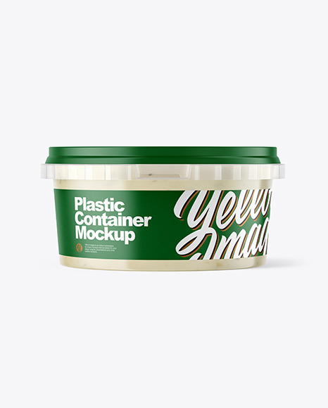 Download Plastic Container with Tar Tar Sauce PSD Mockup