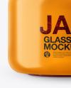 Glass Raspberry Jam Jar in Shrink Sleeve Mockup