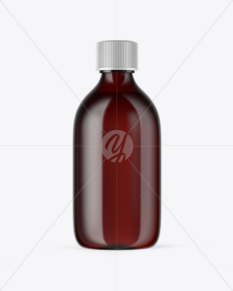 Dark Amber Glass Oil Bottle Mockup