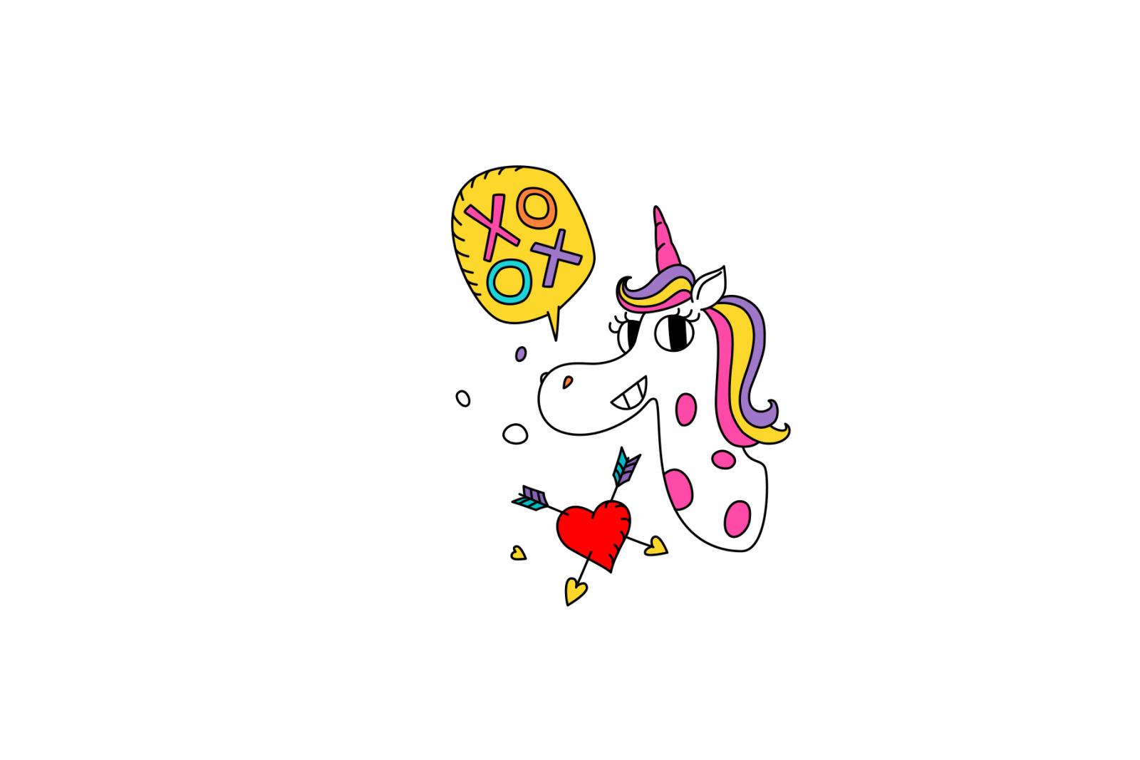 Life of Unicorns. Kawaii characters!