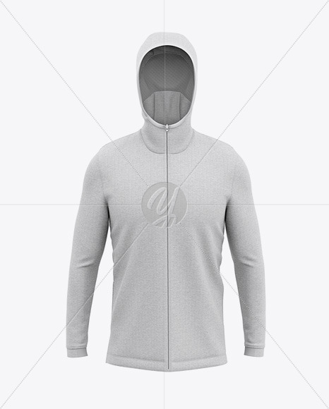 Basketball Heather Hoodie Mockup - Front View