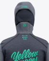 Basketball Heather Hoodie Mockup - Back View Of Hooded Jacket