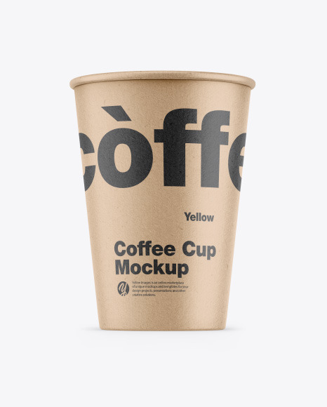 Download Kraft Coffee Cup PSD Mockup