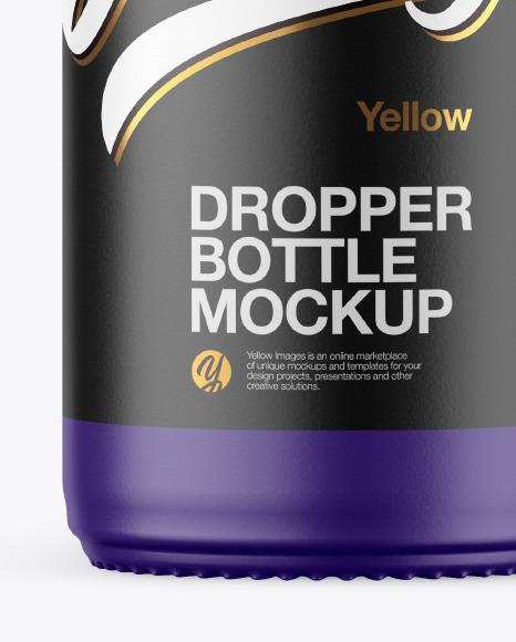 Matte Dropper Bottle Mockup