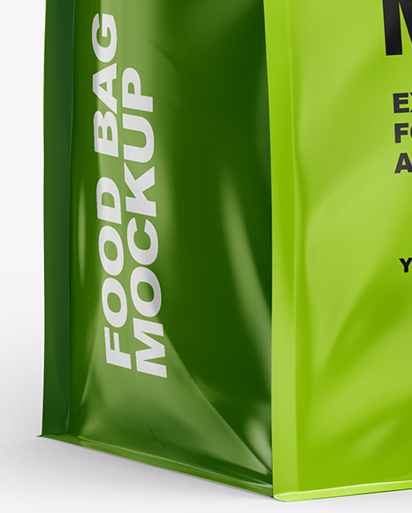 Download Food Bag Mockup In Bag Sack Mockups On Yellow Images Object Mockups PSD Mockup Templates