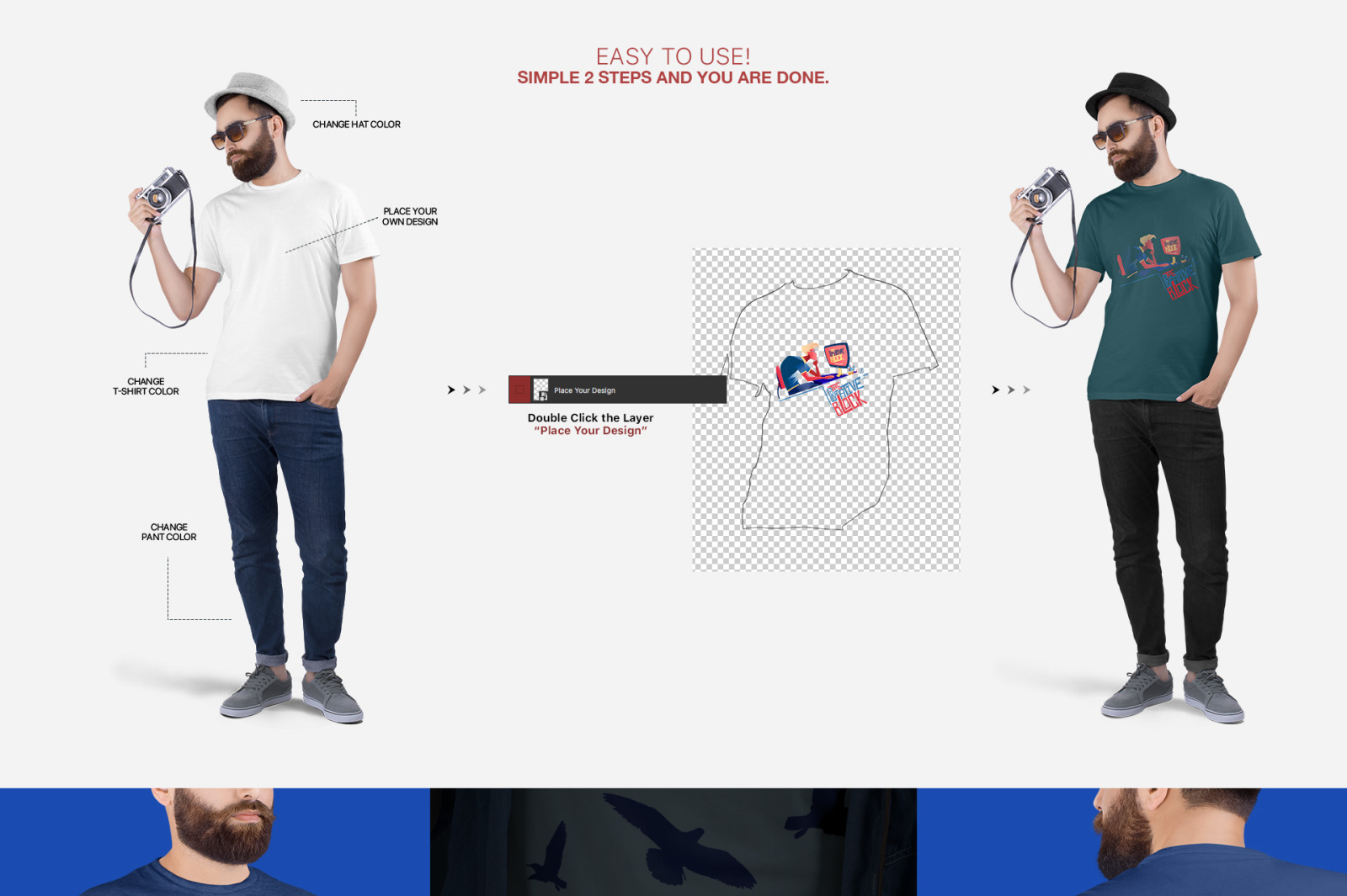 Men's Crew Neck T-Shirt Mockups