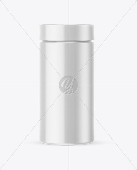 Glossy Round Jar Mockup