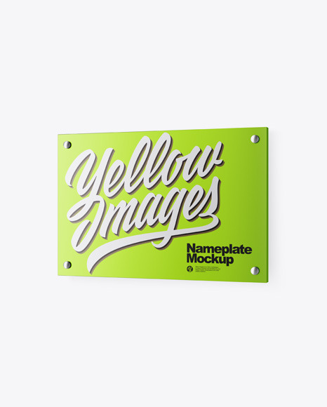 Download Metallic Nameplate PSD Mockup